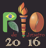 Логотип Рио-де-Жанейро Стоковые Изображения RF