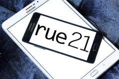 Логотип розничного торговца моды Rue21 Стоковое Изображение