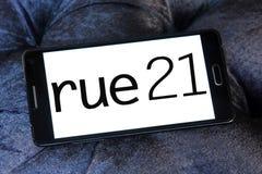 Логотип розничного торговца моды Rue21 Стоковое Фото