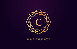 Логотип роскоши c Вектор дизайна письма вензеля Стоковая Фотография RF