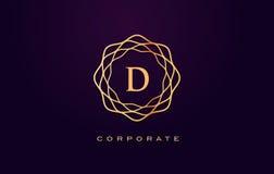 Логотип роскоши d Вектор дизайна письма вензеля Стоковое фото RF