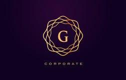Логотип роскоши g Вектор дизайна письма вензеля Стоковая Фотография RF