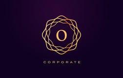 Логотип роскоши o Вектор дизайна письма вензеля Стоковое Изображение