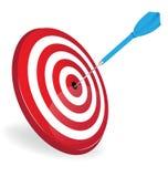 Логотип дротика цели Стоковые Фото