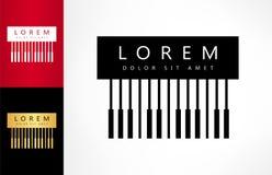 Логотип рояля ключевой иллюстрация вектора