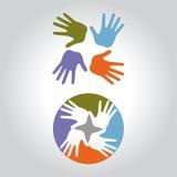 Логотип руки Стоковые Изображения