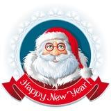 Логотип Санта Клауса ретро Стоковая Фотография RF