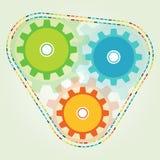 Логотип светлого цвета шестерни 3 Стоковые Фотографии RF