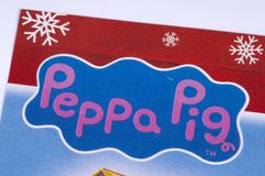 Логотип свиньи Peppa в каталоге Стоковые Фотографии RF