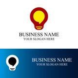 Логотип связи электрической лампочки Стоковая Фотография