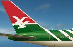Логотип Сейшельских островов воздуха на самолете. Стоковое Изображение RF