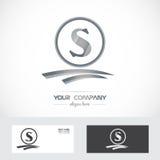 Логотип серебряного серого цвета письма s Стоковые Изображения RF