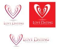 Логотип сердца влюбленности датировка иллюстрация штока