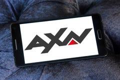 Логотип сетей ТВ AXN Стоковая Фотография