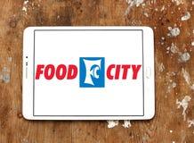 Логотип сети супермаркетов города еды Стоковое Изображение RF