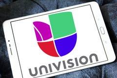 Логотип сети телевизионного вещания Univision Стоковое фото RF
