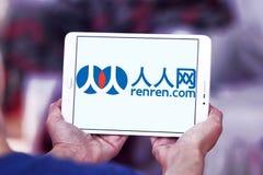 Логотип сети Renren Стоковые Изображения RF