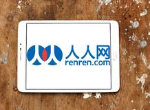 Логотип сети Renren Стоковая Фотография RF