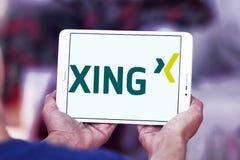 Логотип сети Xing социальный Стоковые Фотографии RF