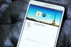 Логотип Сингапоре Аирлинес app Стоковые Изображения