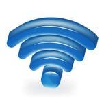 Логотип сини сигнала сети Стоковые Изображения