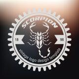 Логотип скорпиона Стоковое Изображение