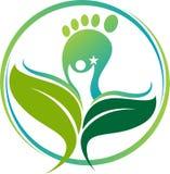 Логотип следа ноги Ayurveda стоковые изображения rf