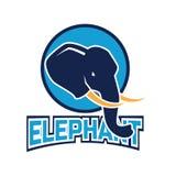 Логотип слона для дела или объекта животного, иллюстрации вектора стоковое изображение