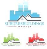 Логотип снабжения жилищем иллюстрация вектора