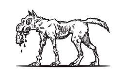 Логотип собаки мутанта иллюстрация штока