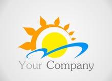 Логотип Солнця Стоковые Изображения