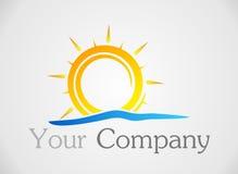 Логотип Солнця Стоковое Фото