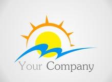 Логотип Солнця Стоковые Изображения RF