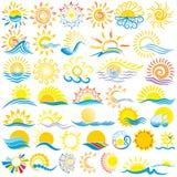 Логотип Солнця Стоковые Фото