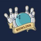 Логотип спорта боулинга Стоковое фото RF