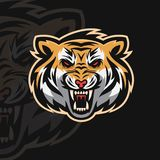 Логотип спорта тигра e иллюстрация вектора