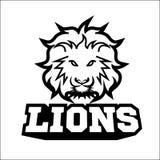 Логотип спорта льва Стоковое Изображение RF