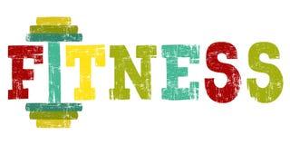Логотип спортзала фитнеса также вектор иллюстрации притяжки corel Стоковые Фотографии RF
