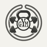 Логотип спортзала иллюстрация штока