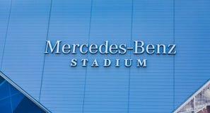 Логотип стадиона Мерседес-Benz стоковая фотография
