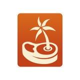 Логотип стейка лета Стоковые Изображения RF