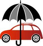 Логотип страхования автомобилей иллюстрация вектора