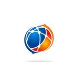 Логотип стрелки науки технологии сферы глобуса Стоковое Изображение RF