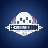 Логотип студии звукозаписи Стоковая Фотография RF