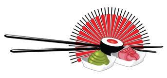 Логотип суш Стоковые Изображения RF