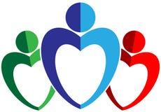 Логотип сыгранности иллюстрация штока