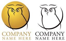 Логотип сыча Стоковое Изображение RF
