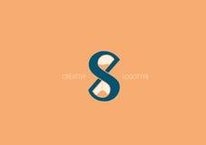 Логотип с двойным смыслом, письмом x, s и часами Стоковые Изображения