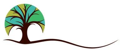 Логотип с деревом Стоковые Изображения RF