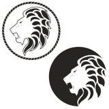 Логотип с изображением льва Стоковые Фотографии RF